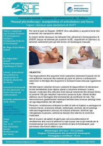 Trajnim:Fizioterapia Manuale: Manipulimi I Artikulacioneve Dhe I Fashiave.