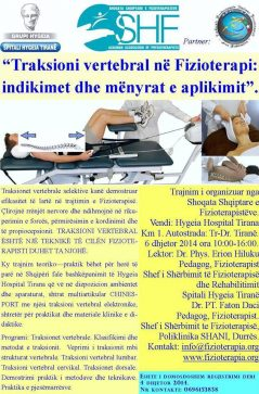 """""""Traksioni Vertebral Ne Fizioterapi: Indikimet Dhe Menyrat E Aplikimit""""."""